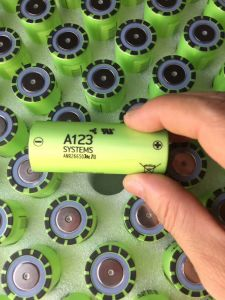 A123 Anr26650 2300mAh LiFePO4 Lithium Li Ion Battery Cell Energy Storage Battery Li-ion High Power Battery LiFePO4 Battery Power Supply Rechargeable Battery pictures & photos