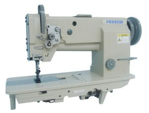 Single Needle Flat Bed Compound Feed Sewing Machine pictures & photos