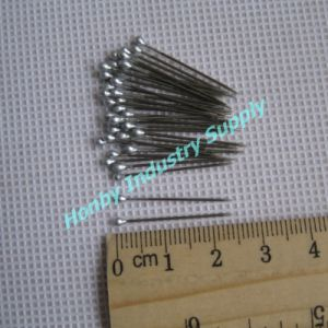 "Packing Use 1"" Brass Straight Silver Head Shirt Pin"