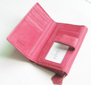 China Supplier Women Leather Wallet Ladies Purses Candy Color Wallets