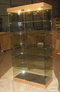 Glass Showcase/ Glass Display Cabinet/Cabinet/Display Counter/Exhibition Equipment/Fair Case (GS-003)