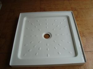 Square Acrylic Shower Plate with Water Strip, Acrylic Shower Tray pictures & photos