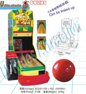 Amusement Game Bowling Alleys Kiddy gutterball arcade machine pictures & photos