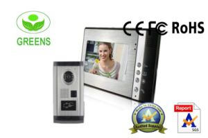 ID Card 7 Inch LCD Video Door Phone with Card Rearder Functions (GVDP802ID11)