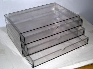 Bj-5951 Plastic Transparent 3 Layer File Cabinet pictures & photos