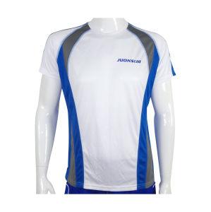 Men′s Running Short Sleeve White Plain Custom Wicking Performance T-Shirt