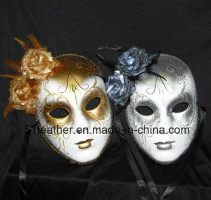 Muliti-Color Personal Party Turkey/Ostrich Venice Feather Masks pictures & photos