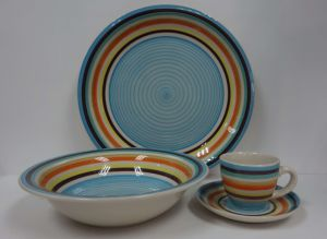 16PCS Stoneware Hand Painted Dinner Set (WSY1017S)