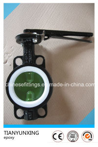 Lever Operation Epoxy Coating Ductile Iron Butterfly Valve pictures & photos