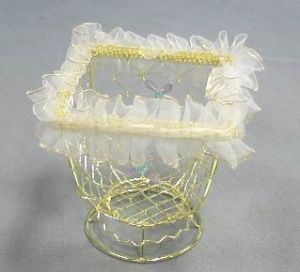 Plated Gold Wire Baskets in Rect. Shape for Gifts (SMD-10329)