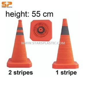 Retractable Safety Traffic Cones with Reflective Tape (ST-CSC-L55) pictures & photos