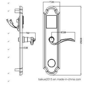 Hotel Room Door Lock Lever Mortise Smart Handle Locks pictures & photos