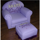 Child Bratz Chair with Ottoman-Lilac (XT9-55A)
