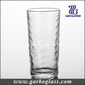 9oz Machine-Pressed Glass Tumbler with Wave Design (GB026709B) pictures & photos