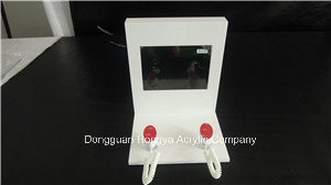 7 Inch 5mm White Acrylic POS LCD Display