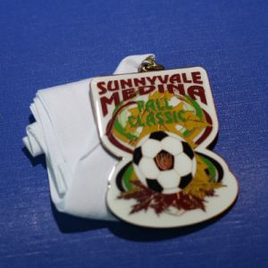 Football Medal Badge with Ribbon for Award (GZHY-MB-001) pictures & photos