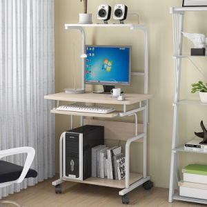 Mobile Home Furniture Computer Table with Rolling Trolley for Study pictures & photos