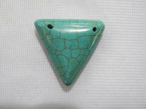 20mm Triangular Green Turquoise Pendant