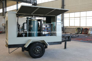 Mobile Air Cooled Screw Type Portable Air Compressor pictures & photos