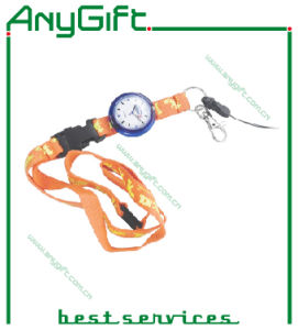 Woven Lanyard with Customized Logo with Compass (LAG-LY-05) pictures & photos