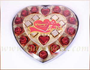 21 Pieces Assorted Heart Gift Box Chocolate (H21A)