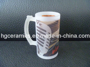 Sublimation Frosted Glass, 16oz Glass Mug, Sublimation Glass Mug