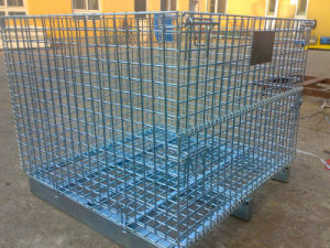 Foldable Steel Storage Cage pictures & photos