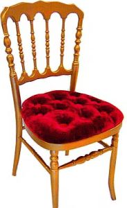 Wooden Napoleon Chair with Pad (WN001)