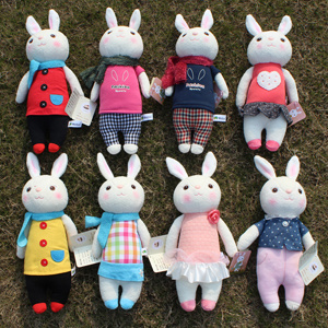 Metoo Plush and Stuffed Rabbit Doll, Bunny Toy for Children and Girls′ Gifts 35cm