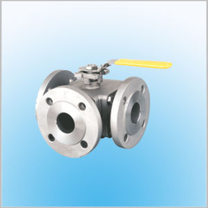 3-Way Flange Ball Valve ISO-Direct Mounting Pad Pn16/40 pictures & photos