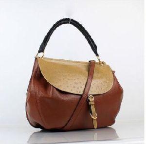 Tan Leather Women Tote Bag