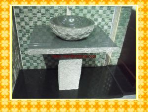 Granite Sink & Basins / Vanity Top in Pure White Marble With Basin