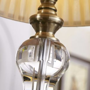 Traditional Design E27 Table Lamp with PE Shade for Bedside Decorative/ Crystal Table Lamp pictures & photos