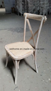 Solid Oak Wood Stackable Cross Back Chair for Wedding pictures & photos