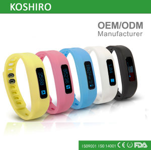 OLED Pedometer Bracelet Smart Wrist Watch pictures & photos