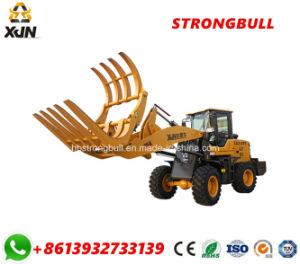 Sugarcane Loader Wood Log Grapple Mini Loader with Log Fork Zl26 pictures & photos