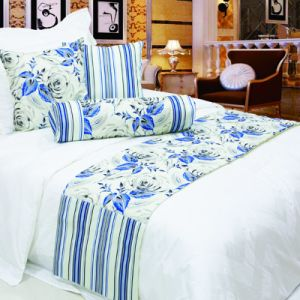 100% Polyester Linen Hotel Printed Bed Runner/ Bed Flag/Bed Throw
