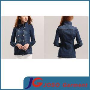 High Leck Long Women Jean Coat Garment (JC4078) pictures & photos