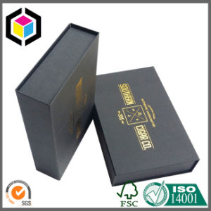 White Logo Luxury Black Cardboard Gift Box with Magnetic Close pictures & photos