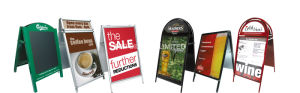 24 X 36 a Steel Frames & Sandwich Boards Poster Signs Blackboard Outdoor Chalk Double Graphics Portable Advertising Display Equipment Stand Banner pictures & photos