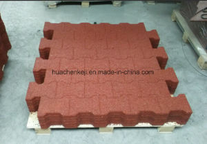 High Quality I Type Outdoor Anti-Slip Rubber Flooring Tile pictures & photos