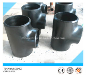 Dn450 Sch40 Seamless Straight Carbon Steel Tee pictures & photos
