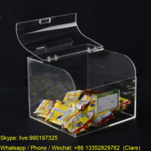 SGS Transparent Acrylic Candy Box with Lid pictures & photos