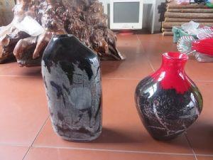 Shandong Zibo Boshan Handblown Color Glass Vase