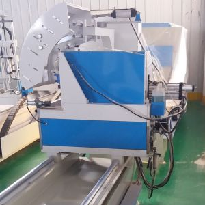 CNC Window Machine of Two Head Cutting Saw pictures & photos