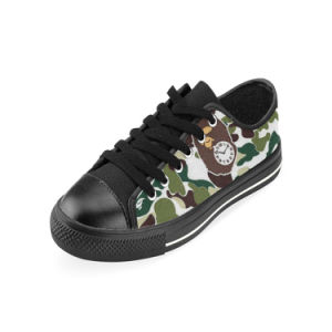 Style No Custom Sneaker 037 Low Cut Print Unisex Canvas Casual Shoes Custom Canvas Sneakers pictures & photos