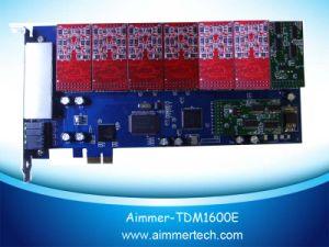 Tdm1600e 16 FXO/FXS PCI-E Asterisk Card Support Asterisk / Trixbox /Elastix