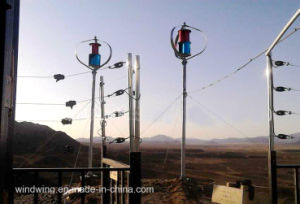 Full Permanent Magnet 600W Vertical Wind Turbine off-Grid System pictures & photos