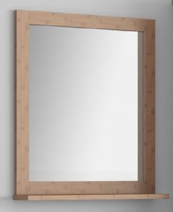 Carbonized Horizontal Bamboo Frame Mirror for Bathroom pictures & photos