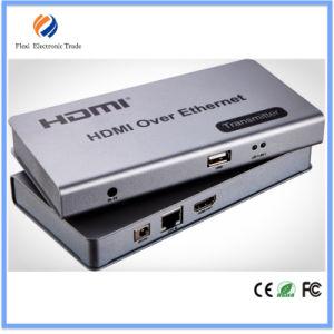 Kvm USB HDMI Extender 120m Over IP/RJ45 Ethernet pictures & photos